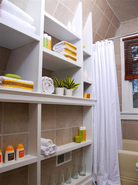 Small Bathroom Shelving 12 Clever Bathroom Storage Ideas Bathroom Ideas Designs Hgtv