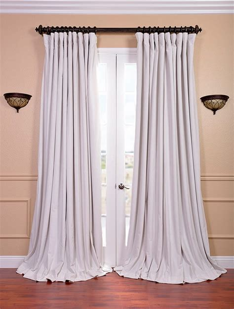 double wide curtain signature off white double wide velvet blackout pole
