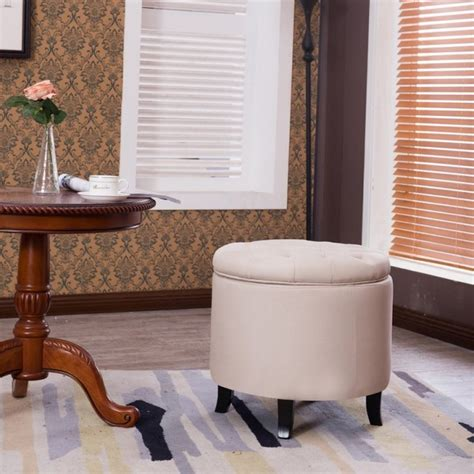 tufted storage ottoman coffee table belleze nailhead tufted storage ottoman large