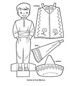 doll template to cut out printable cutout paper doll sheet hispanic heritage