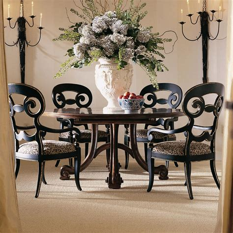dining room sets round table antique round dining table set for 4
