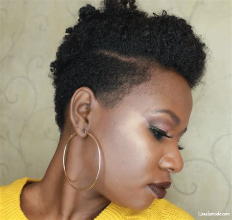 how i style my tapered hair six hairstyles on a tapered cut natural hair lisa a la mode