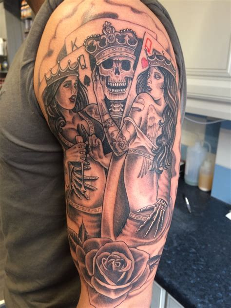 tattoo prices vegas lovely work by greg on this gambling sleeve piece