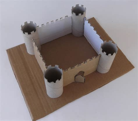 What To Make With Toilet Paper Rolls - paper castle castle from toilet paper rolls how to make