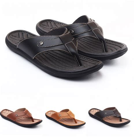 Salvo Sandal Pria Coklat salvo sandal pria jp07 4 warna size 39 43 elevenia