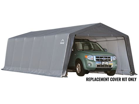 Shelterlogic Garage Replacement Covers by Replacement Cover Kit For The Garage In A Box Peak 12 X 24