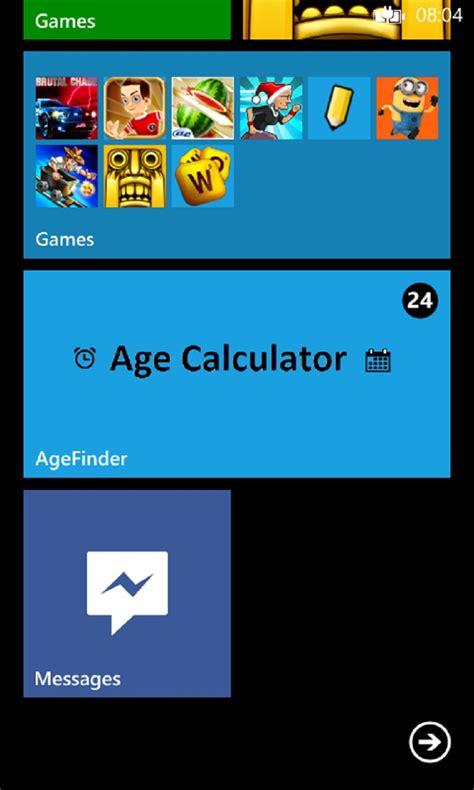 age calculator age calculator for windows 10 mobile
