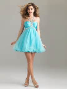 blue taffeta tulle a line sequined halter sweetheart