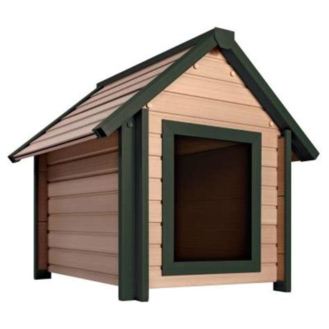 dog house at home depot new age pet eco concepts bunkhouse x large dog house ecoh103xl the home depot