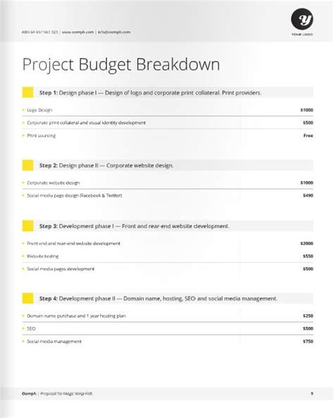 25 best ideas about business proposal template on