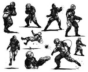 astronaut thumbnails for action poses by concept art house on deviantart