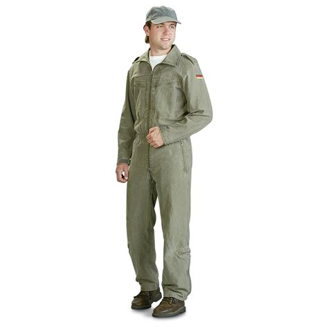 us navy s mechanic jumpsuit 2 used german mechanic s coveralls olive drab