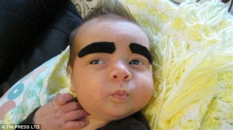 All About The Brows Baby 2 by Parents Draw Eyebrows On Their Babies In Viral Photos