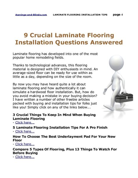 answer these 9 questions before laying laminate flooring