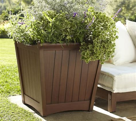 pottery barn planters chatham planter honey pottery barn