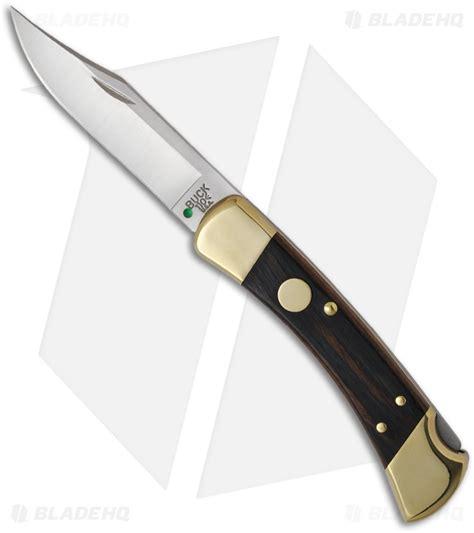 auto bucks buck 110 single automatic knife brass rosewood 3