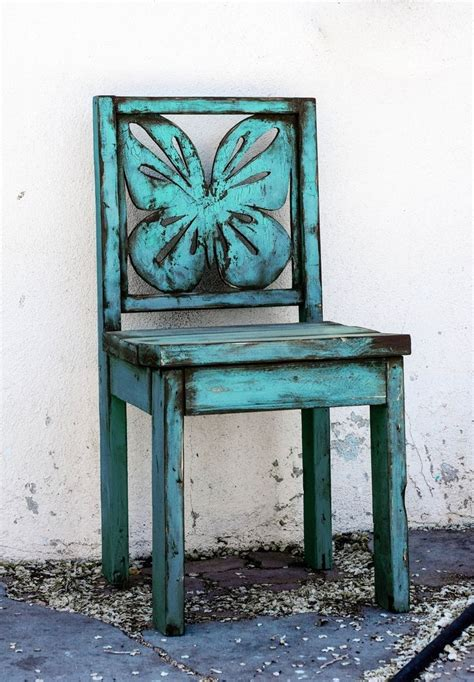 custom made blue butterfly chair indoor outdoor wooden