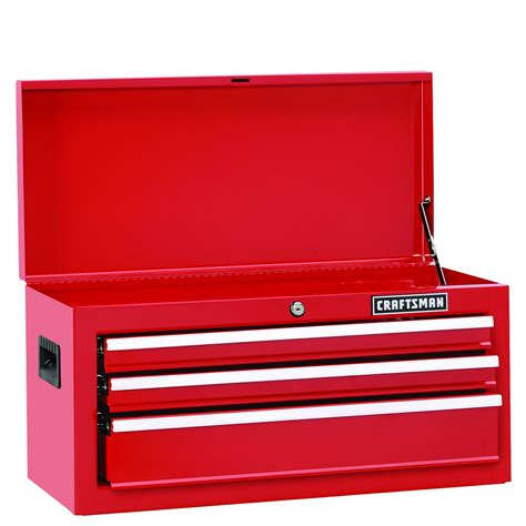 3 Drawer Craftsman Tool Box by Craftsman 26 In Wide 3 Drawer Standard Duty Bearing