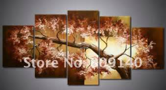 Art Home Decoration Pictures Oil Painting Canvas Brown Tree Landscape High Quality