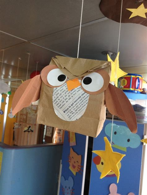 Owl Paper Bag Craft - paper bag owl crafts