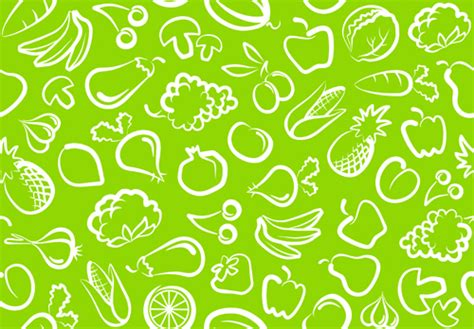 Flower Foods Stock Hand Drawn Vegetables Seamless Pattern Vector 01 Vector