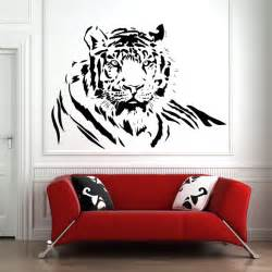 Wall Graphics Stickers Tiger Laid Down Jungle Animals Wall Stickers Wall Art