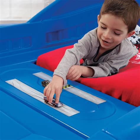step2 corvette toddler to twin bed with lights red corvette 174 toddler to twin bed with lights blue kids beds step2