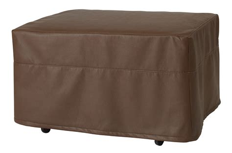 castro convertibles ottoman ottoman with brown faux leather slipcover castro