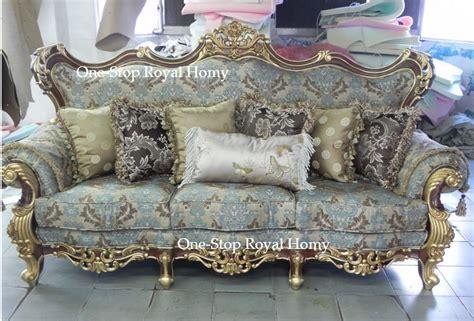 jacquard fabric sofas stately luxury royal antique solid wood furnishing sofa