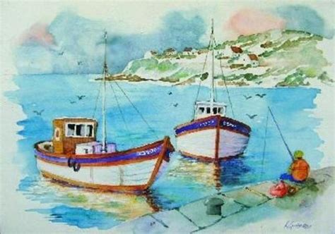 boat auctions west coast paintings west coast fishing boats was sold for r450 00