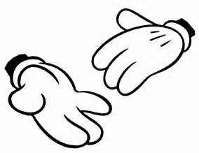 mickey mouse hands gloves templates parties clipart clipart
