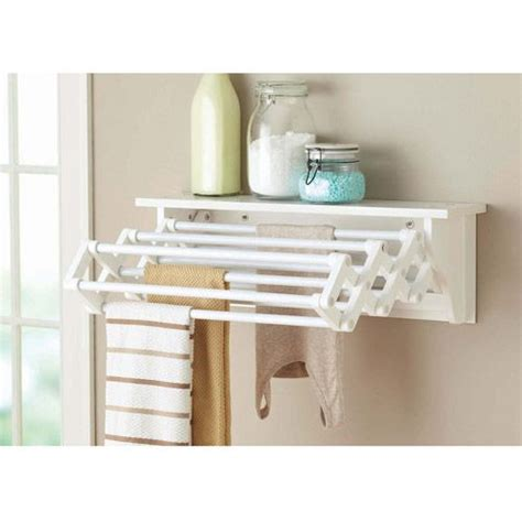Wall Hung Drying Rack by Better Homes And Gardens Wall Mounted Drying Rack White