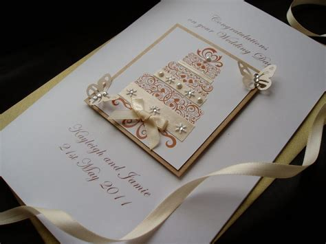 luxury handmade wedding card cake handmade cards pink