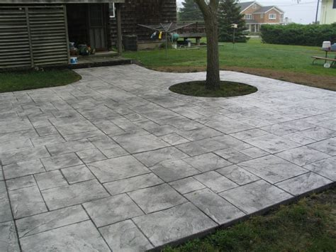 Colored Concrete Patio Pictures Garden Treasure Patio Design Concrete Patio
