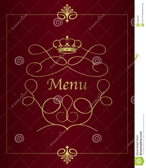 menu card design stock image image 16885511