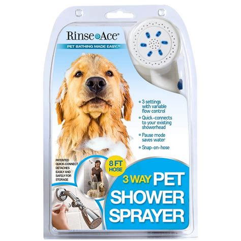 Rinse Ace Pet Shower by Rinse Ace 3 Way Shower Sprayer Grooming Tool 8 Ft Hose White Chewy