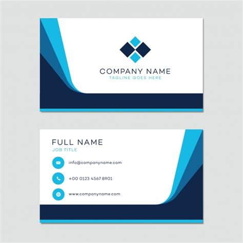 template for business name card business card template vector free download