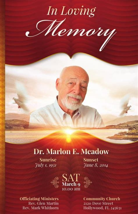 In Loving Memory Flyer Template