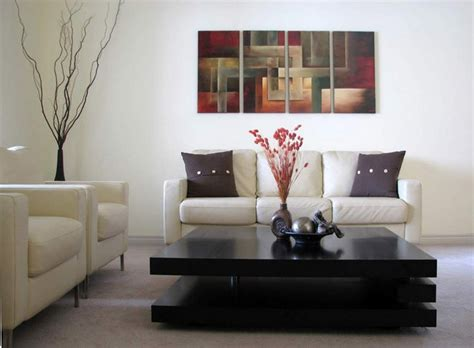 contemporary abstract paintings modern living room