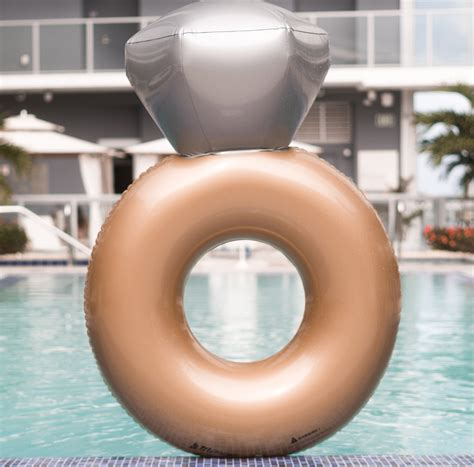 Wedding Ring Pool Float by Engagement Ring Pool Float Mimosa Inc
