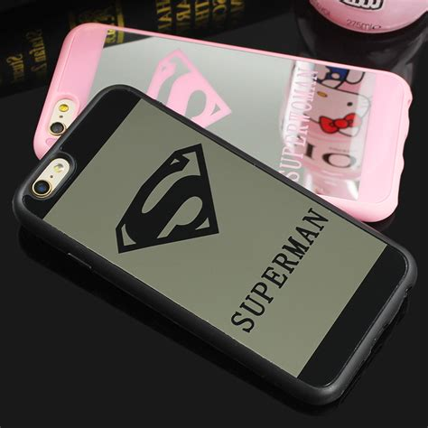 Op4835 Luxury Superman Superwoman Mirror Soft For Iphone Kode Bi for iphone picture more detailed picture about luxury superman mirror surface tpu