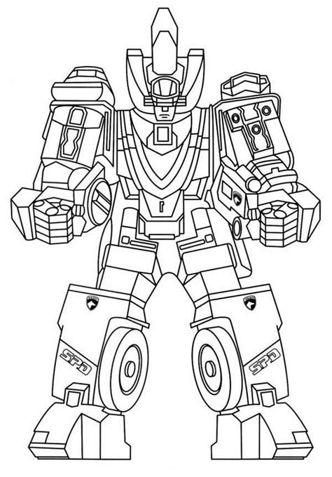 power rangers spd coloring pages to print coloring home