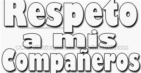 imagenes para pintar sobre el respeto dibujos de respeto en el salon de clases apexwallpapers com