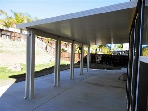 aluminum patio cover non insulated orange county aluminum insulated solid patio covers
