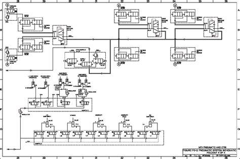 pneumatic diagram figure fo 3 hydraulic system schematic foldout 5 of 8 tm 9