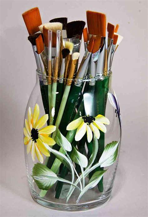 Vase Painting Designs Best 25 Painting On Glass Ideas On Pinterest Diy