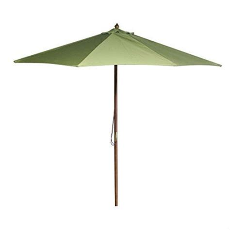 patio umbrella frame 9 foot wood frame patio umbrella with pulley and olive green canopy fastfurnishings