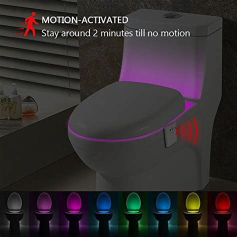 led toilet bowl light kingso led toilet light sensor motion activated glow