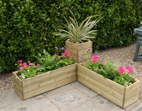 Corner Garden Planters by Brookers For Building And Home