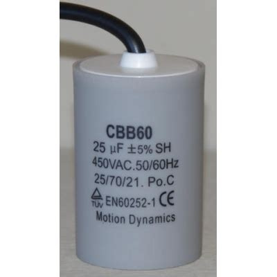 capacitor dielectric dynamics 25 181 f 500v ac start run capacitor cbb60 lead wire